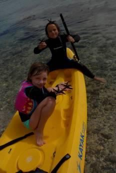 Abbie and Leonie, starfish whisperers.