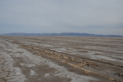 Dry lakebed - the express route out of the mountains