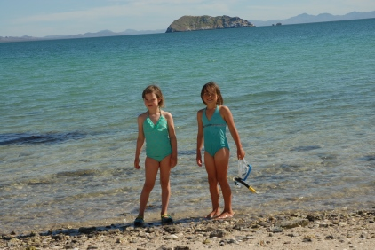 How about these two mermaids, in matching outfits no less...