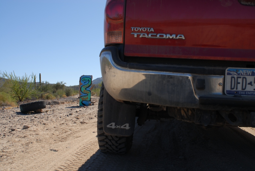 On our way into the unknown, along the Baja 100 route.