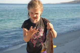 Fierce, hungry she-wolf discovers fish have... scales