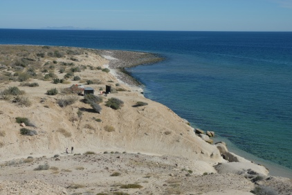 This is where we have been camping, just south of El Barril - Leonie and Val just visible in the wash
