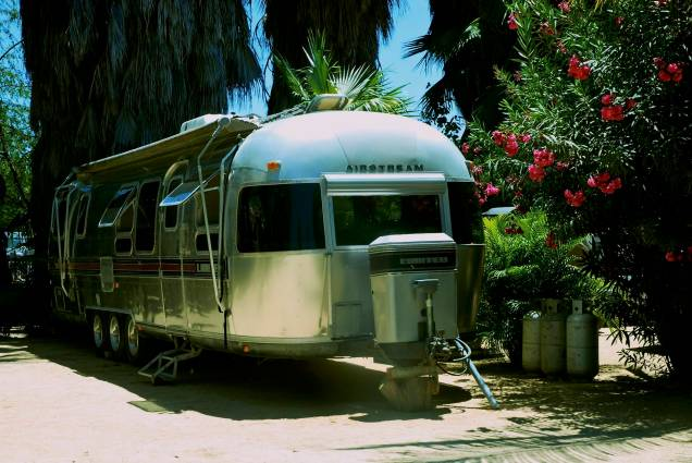 Ooooh, man. A forty something year old airstream rescued by fellow park dwellers Jenny and Joe.
