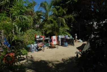 This is what we left behind, with no small amount of difficulty - our absolutely lush, picturesque encampment at the East Cape Resort in Los Barriles.