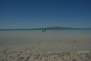 The beach at Tecolote, north of La Paz. We took an afternoon break from our trip northward here, it was glorious.