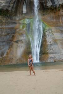 Sylvie at the falls.