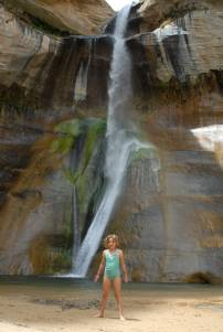 Leonie at the falls.