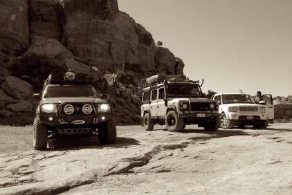 Three trucks.