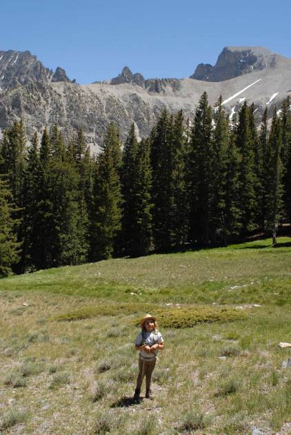 Sylvie on the high trails at Great Basin.