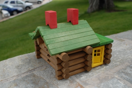 Of course, I couldn't help myself and immediately hoarded a bunch of pieces and built my own cabin.