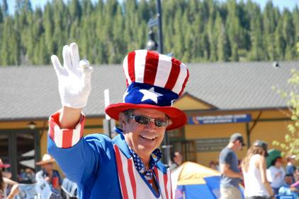Did Will Ferrel come to the Truckee Fourth of July parade? You be the judge.