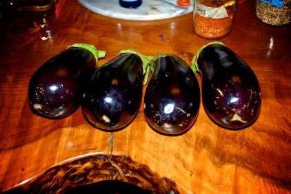Eggplants. Glorious.